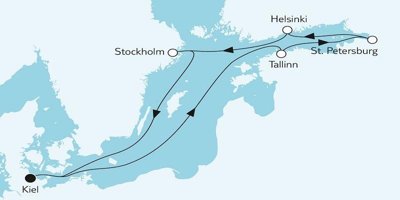 Ostsee mit St. Petersburg 1